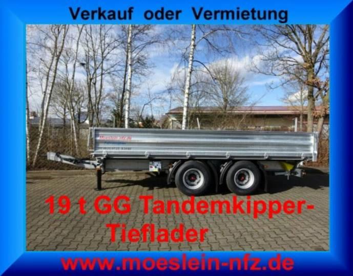 Möslein TTD 19 19 t Tandem- 3 Seiten- Kipper Tieflader-- - 2019