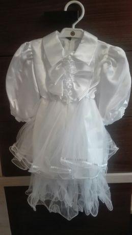 c41faf48ee Sukienka biała niemowlęca na chrzest nowa falbanki koronka LUKROY Kożuchów  - image 1