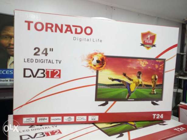 Brand new sealed Tornado 24inches digital tv with free channels Nairobi CBD - image 1