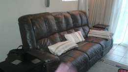 LEATHER Lounge suite Brown