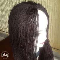 Neatly twisted wig