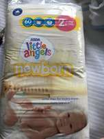 Little Angels nappies size 2, 3-6 kgs, 60 nappies.