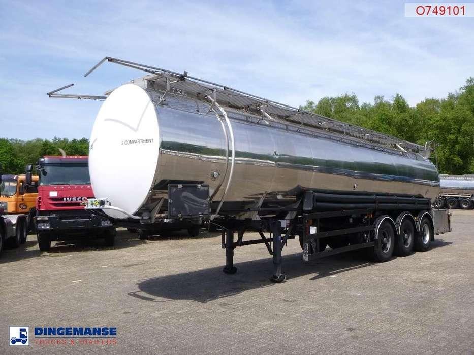 Crane Fruehauf  Chemical tank inox 35 m3 / 3 comp - 1995