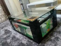 Table with aquarium