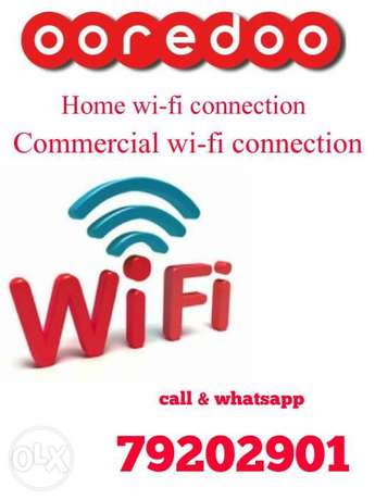 Ooredoo WiFi fiber internet connection & wireless connection available