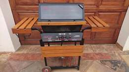 BIG Bargain ! Sunbeam Cast Aluminum USA made Braai ! Lava rocks !