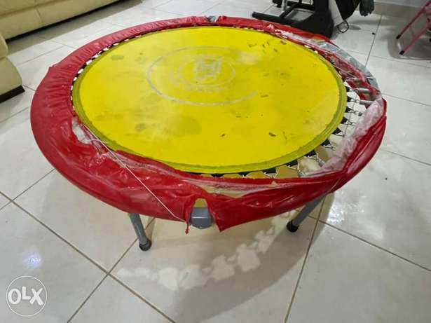 Trampoline good condition can be for adults up to 100 KG
