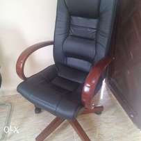 Wooden hand executive office chair