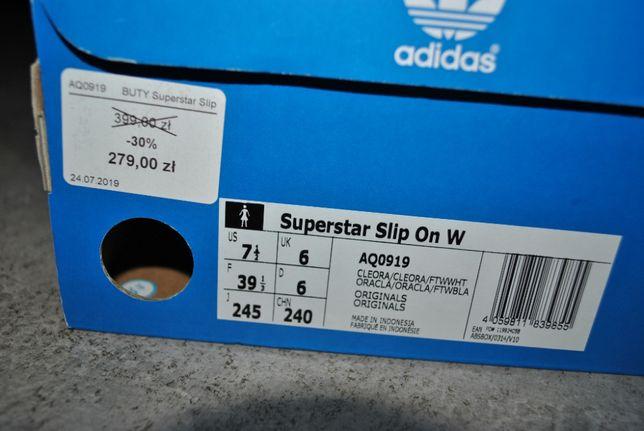 Buty adidas Superstar Slip on CQ2383 39 Wojkowice • OLX.pl
