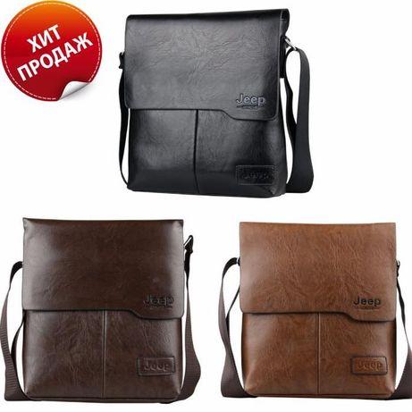 1e665a5d0596 JEEP мужская кожаная сумка через на плечо. Чоловіча сумка Polo Поло Львов -  изображение 1