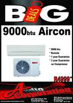 Audio Corp: 9000btu Split unit Aircons