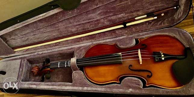 violin+bow+shoulder rest+violin hard case+rosin