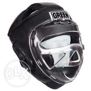 Boxing Size M Greenhill Black Head Gear with mask