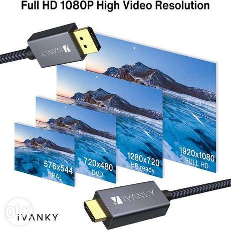 iVANKY DisplayPort to HDMI Cable- 2 Meter