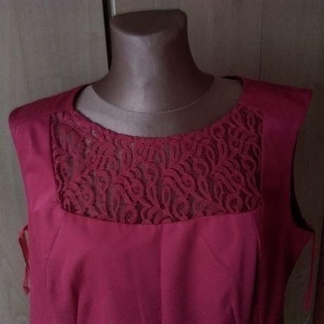 07f2f7ed69 De Facto-czerwona sukienka z koronką rozm. 46 sylwester Białystok - image 2