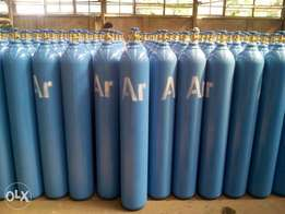 Argon gas 99.999% purity and Co2 gases plus cylinder for sale.