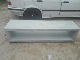 Specials on all light weight concrete furniture.