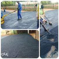 Tarring resurfacing and paving bricks