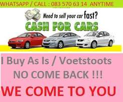 Wanted Cars and bakkies in any condition anywhere in Gauteng