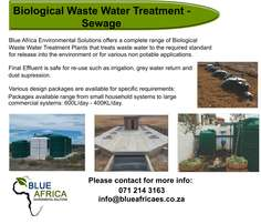 Sewage Treatment Solutions/Systems/Package Plants