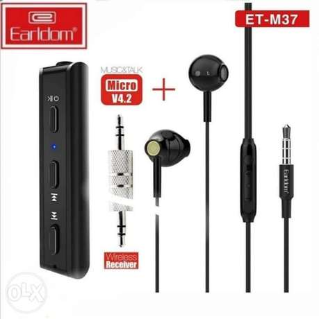 EARLDOM ET-M37 Bluetooth Receiver with 3.5mm Jack and Headphones