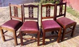 Vintage Chairs x 4 J 2786