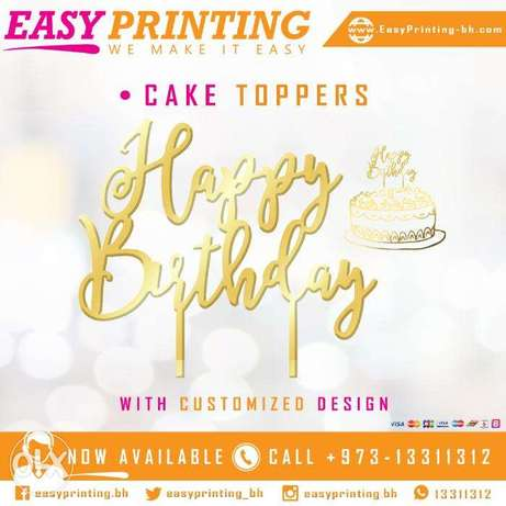 Acrylic Cake Toppers - with Free Delivery Service!