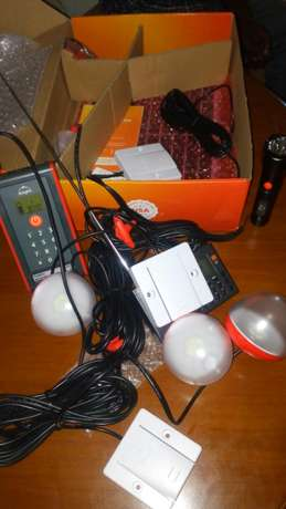 Digital solar panel with three bulbs, a tourch and a radio all solar c Thika - image 2