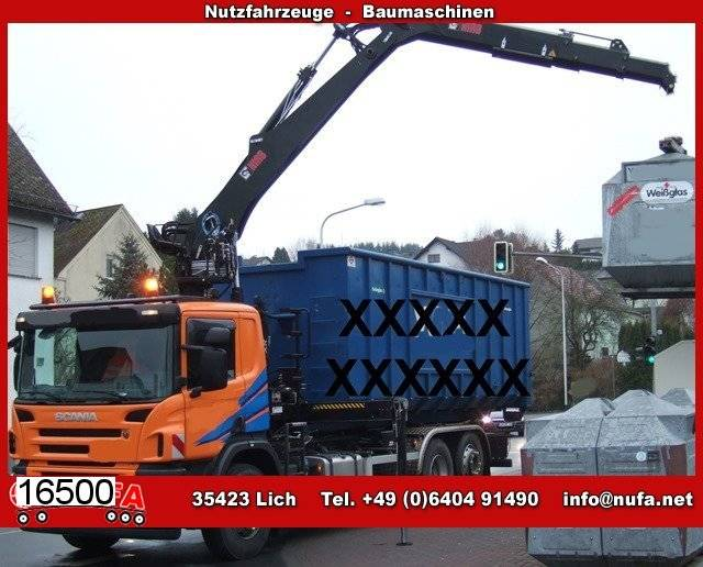 Scania p 380/6x2-4, lenk-liftachse, hiab kran - 2008