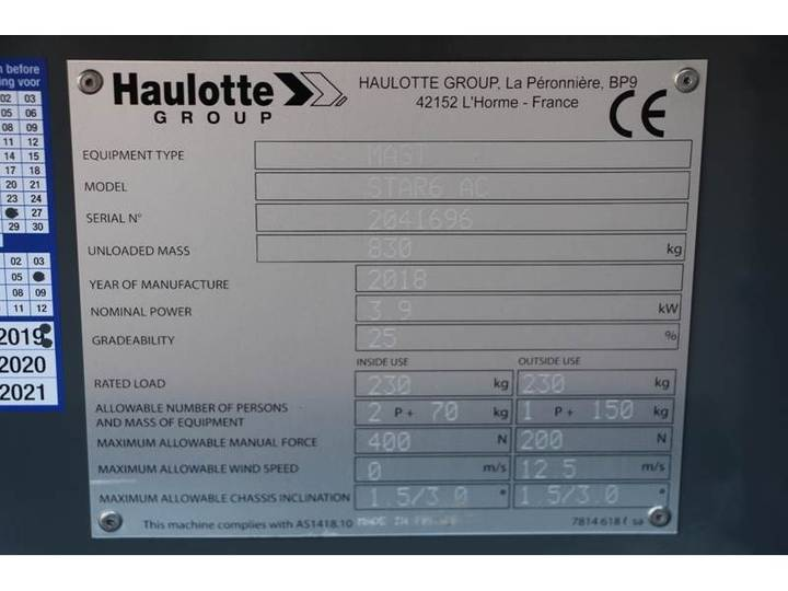 Haulotte STAR 6AC New / Unused, Electric, 5.8 m Working Hei - 2018 - image 6