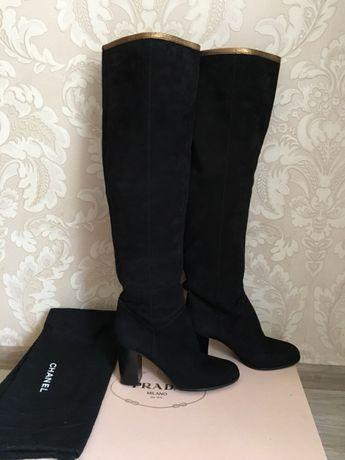 91e13089574d Chanel оригинал высокие сапоги ботфорты черные замшевые Италия Киев -  изображение 2