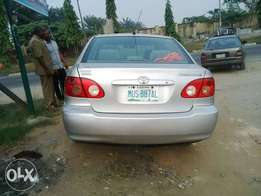 Registered Toyota corolla for sell 2003 model