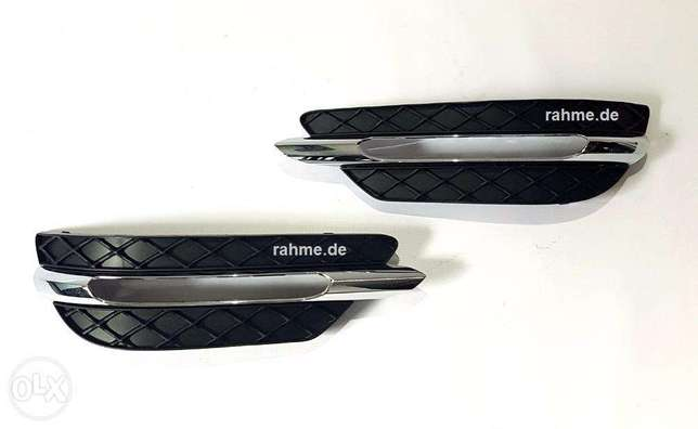 Mercedes Bumper Grids Set left and right For C-W204 طقم شبك بروجكتور