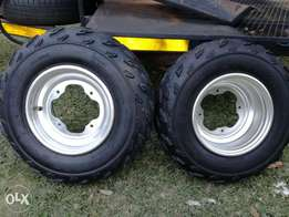 Yamaha quad rims and tyres