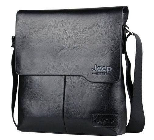 JEEP мужская кожаная сумка через на плечо. Чоловіча сумка Polo Поло Львів -  зображення 4 14098ca316321
