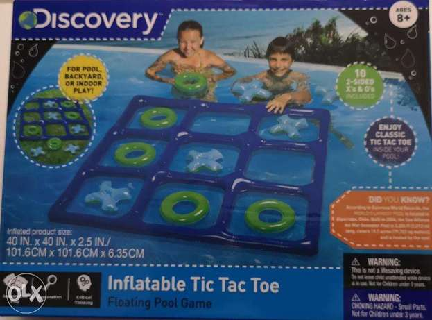 discovery pool game inflatable tic tac toe floating pool game ages 8+