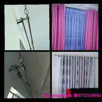 Stylish metal curtain rods