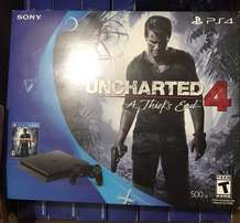 PS4 slim brand new with uncharted 4
