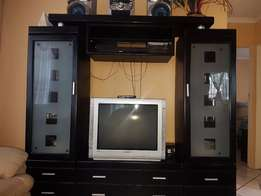 4 piece Black Wall Unit for sale