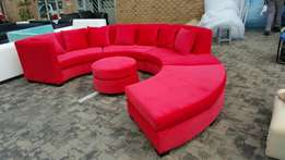 Circular lounge couch, hand crafted from the factory
