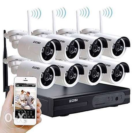 8 cctv HD camera with fixing