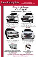 Fortuner Nudge Bars &Towbar Specials