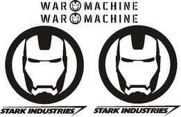 Jeep Iron man Stark Industries graphics stickers decals kits