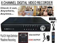 8 channel DVR for CCTV camera systems at R1000 each