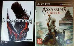 Prototype and Assassin's Creed 3 PS3 video games