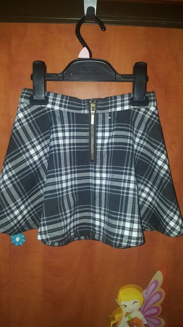 spódnica za kolano | spódniczka w kratkę h&m | tiulowe