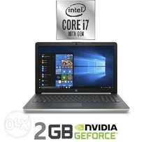 HP Laptop Core i7 /8 GB Ram/1TB HDD/2 GB Nvidia New 10 Gen