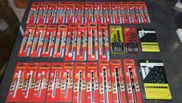 Drill bits steel/metal and concrete with sets