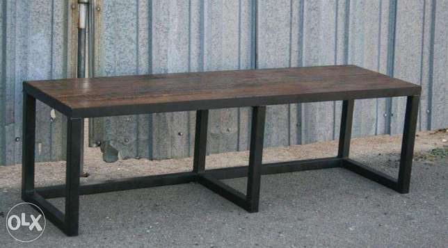 [ Customized contemporary industrial steel bench ]