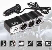 Triple car lighter sockets / 3 x 12v car lighter sockets plus one USB